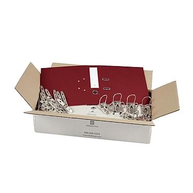 Bindertek – Ensemble de cartables de première qualité à 2 anneaux, non assemblé, 2 po, rouge brique, 25/paquet (SLBN-BR)