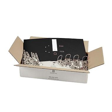 Bindertek – Ensemble de cartables de première qualité à 2 anneaux, non assemblé, 3 po, noir, 25/paquet (EFBN-BK)