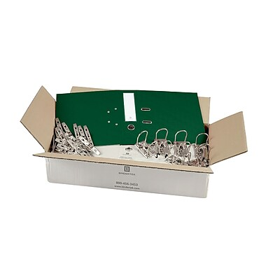 Bindertek – Ensemble de reliures à 2 anneaux de 3 po de qualité supérieure, non assemblé, vert sapin, 25/paquet (EFBN-EV)
