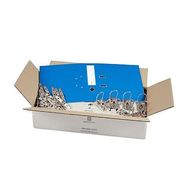 Bindertek – Ensemble de cartables à 3 anneaux de 2 po non assemblés, bleu océan, 25/paquet (EFBN-OB)