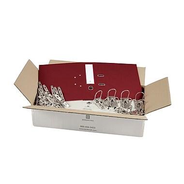 Bindertek – Ensemble de cartables de première qualité à 2 anneaux, non assemblé, 3 po, rouge brique, 25/paquet (EFBN-BR)