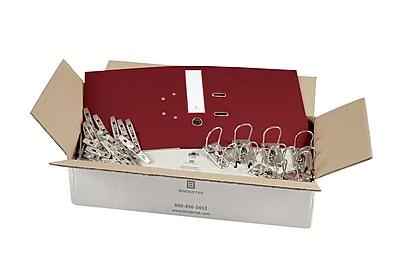 Bindertek 2-Ring 3-Inch Unassembled Premium Binder Packs, Brick Red (EFBN-BR)
