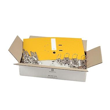 Bindertek – Ensemble de reliures à 2 anneaux de 3 po de qualité supérieure, non assemblé, jaune, 25/paquet (EFBN-YE)