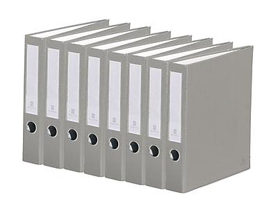 Bindertek 3-Ring 2-Inch Premium Binder 7-Pack, Light Grey (3SLPACK-LG)
