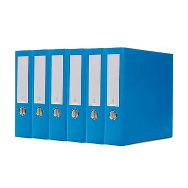 Bindertek – Cartables à 3 anneaux de 3 po de première qualité, bleu océan, 5/paquet (3EFPACK-OB)