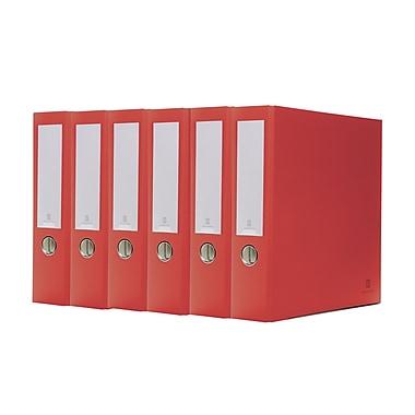 Bindertek – Reliure à 3 anneaux de première qualité, 3 pouces, rouge, 5/paquet (3EFPACK-RD)