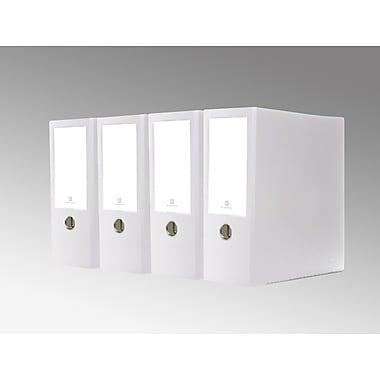 Bindertek – Cartable grande capacité de première qualité à 3 anneaux, 4 po, blanc, 4/paquet (3XLPACK-WH)