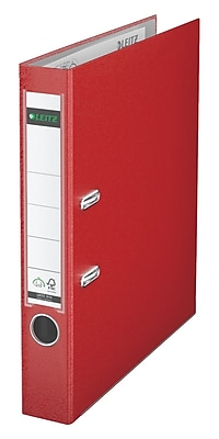 Leitz 2-Ring 2-Inch Premium A4 Sized European Binders, Red (1015-RD)