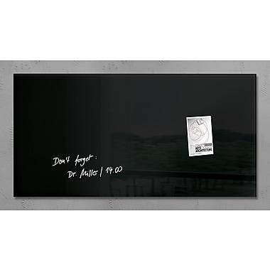 Sigel – Tableau magnétique contemporain en verre, 36 x 18 po, noir (SGBOARD36-BK)
