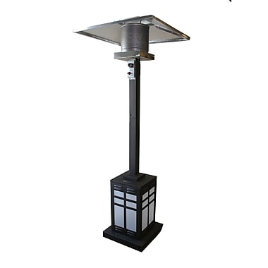 Paramount PH-SQ-201 Square Illuminated Base Patio Heater Black
