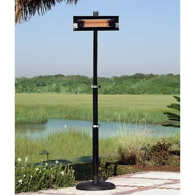 Paramount PH-E-129-BK Infrared Patio Heater with Telescoping Offset Pole Black Powder Coated