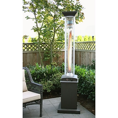 Paramount PH-F-116-MK Full Size Square Flame Propane Patio Heater Mocha
