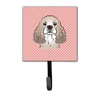 Caroline's Treasures Checkerboard Cocker Spaniel Leash Holder and Wall Hook