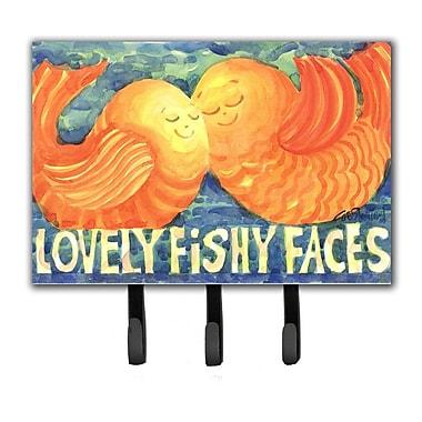 Caroline's Treasures Kissing Fish Leash Holder and Key Hook