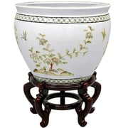 Oriental Furniture Birds and Flowers Vase