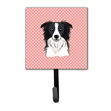 Caroline's Treasures Checkerboard Border Collie Leash Holder and Wall Hook