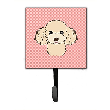 Caroline's Treasures Checkerboard Buff Poodle Leash Holder and Wall Hook