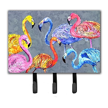 Caroline's Treasures Flamingo Six Senses Leash Holder and Key Hook