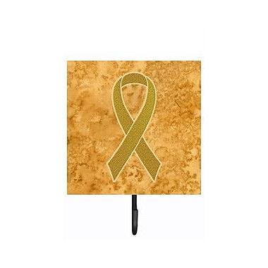 Caroline's Treasures Ribbon for Childhood Cancers Awareness Leash Holder and Wall Hook