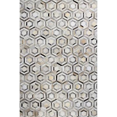 Bashian Rugs Tuscon Geometric Grey Area Rug; Rectangle 9' x 12'