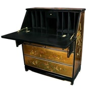 Oriental Furniture Chinese Secretary Desk by