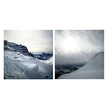 3 Panel Photo Braving the Slopes by Herbert Schroer 2 Piece Photographic Print on Wrapped Canvas Set