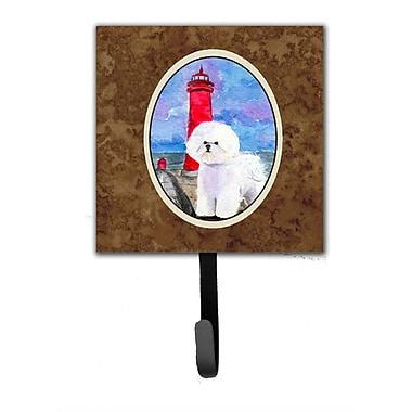 Caroline's Treasures Lighthouse w/ Bichon Frise Leash Holder and Wall Hook