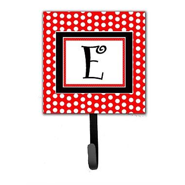 Caroline's Treasures Monogram Polka Dots Wall Hook; E