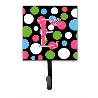 Caroline's Treasures Monogram Polkadot Wall Hook; E