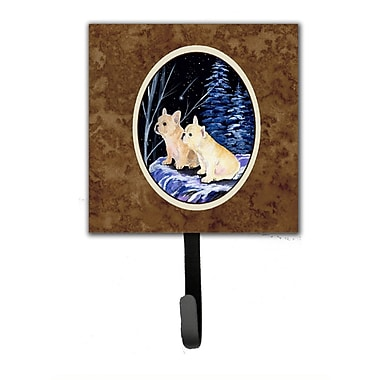 Caroline's Treasures Starry Night French Bulldog Leash Holder and Wall Hook