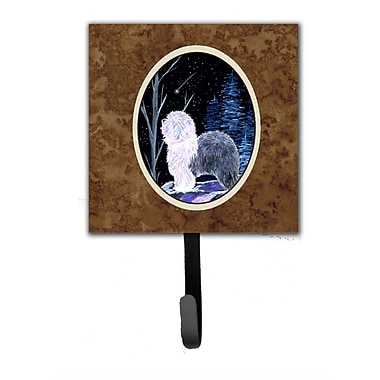 Caroline's Treasures Starry Night Old English Sheepdog Leash Holder and Wall Hook