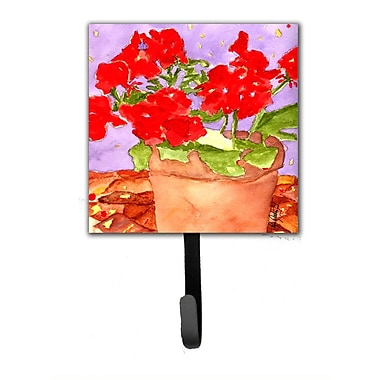 Caroline's Treasures Geranium Leash Holder and Wall Hook
