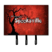 Caroline's Treasures Welcome To Spooksville Halloween Leash Holder and Key Hook