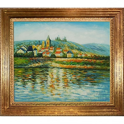 Tori Home The Seine at Vetheuil by Claude Monet Framed painting