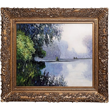 Tori Home Morning on the Seine Near Giverny by Claude Monet Framed Painting