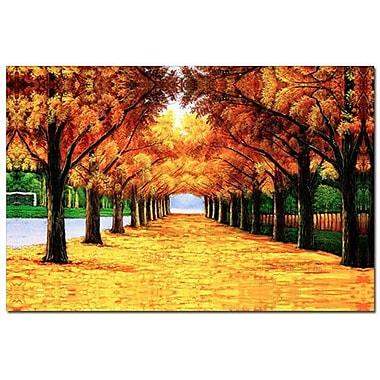 3 Panel Photo Yellow Painting Print on Canvas
