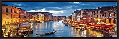 3 Panel Photo Venice Glowing at Dusk Framed Photographic Print