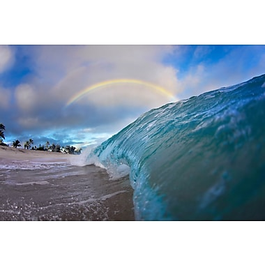 3 Panel Photo Under the rainbow Photographic Print on Wrapped Canvas