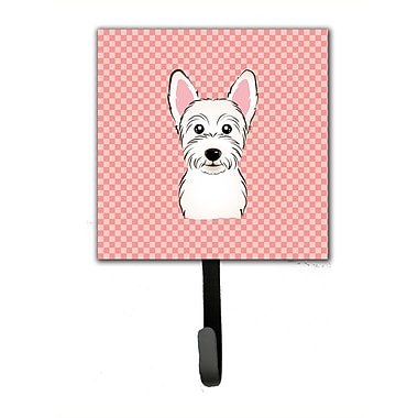 Caroline's Treasures Checkerboard Westie Leash Holder and Wall Hook