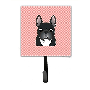 Caroline's Treasures Checkerboard French Bulldog Leash Holder and Wall Hook