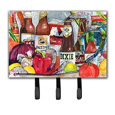 Caroline's Treasures New Orleans Beers and Spices Leash Holder and Key Hook