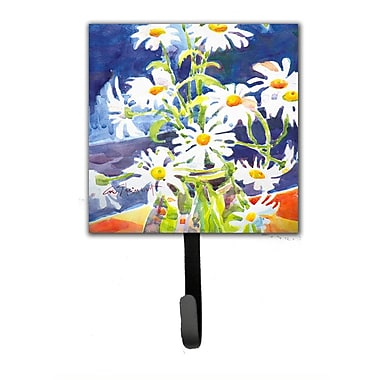 Caroline's Treasures Daisy Flower Leash Holder and Wall Hook