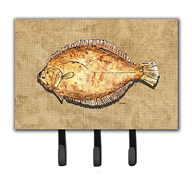 Caroline's Treasures Flounder Leash Holder and Key Hook