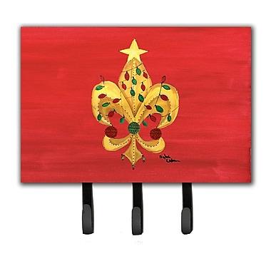 Caroline's Treasures Christmas Fleur De Lis Tree w/ Lights Leash and Key Holder