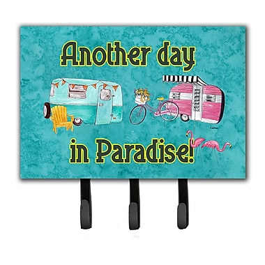 Caroline's Treasures Another Day in Paradise Leash Holder and Key Hook