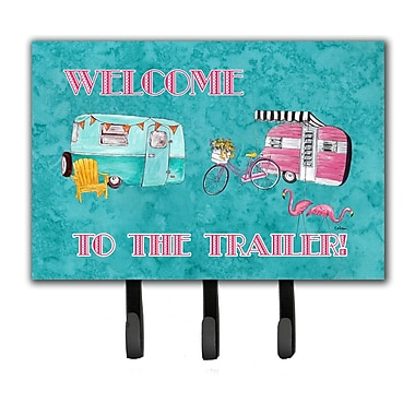 Caroline's Treasures Welcome To The Trailer Leash Holder and Key Hook