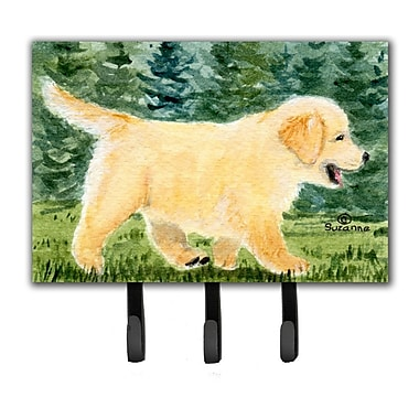 Caroline's Treasures Golden Retriever Leash Holder and Key Hook