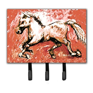 Caroline's Treasures Shadow The Horse in Leash Holder and Key Hook