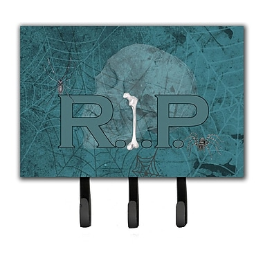 Caroline's Treasures RIP Rest in Peace w/ Spider Web Halloween Leash Holder and Key Hook