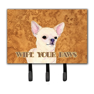 Caroline's Treasures Chihuahua Wipe Your Paws Leash Holder and Key Holder